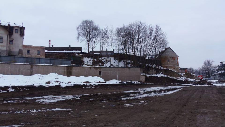 Vamberk hrad - pohled na ostrožnu