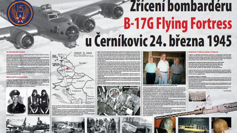 Zřícení bombardéru - S nákladem pum letěli na Berlín a zřítili se ve východních Čechách