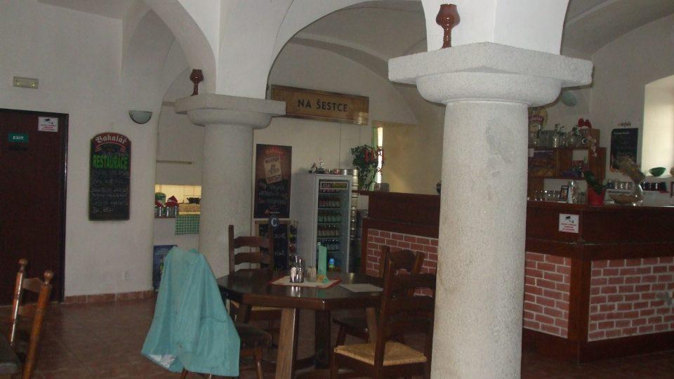 Liběšice - detail místní restaurace