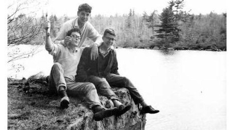 Miloš u jezera Spider Lake s kamarády, jaro 1964