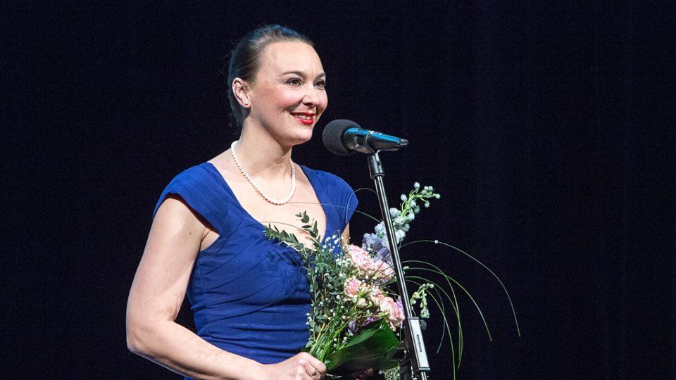 Lenka Šestáková převzala cenu Českého rozhlasu za rozhlasové herectví