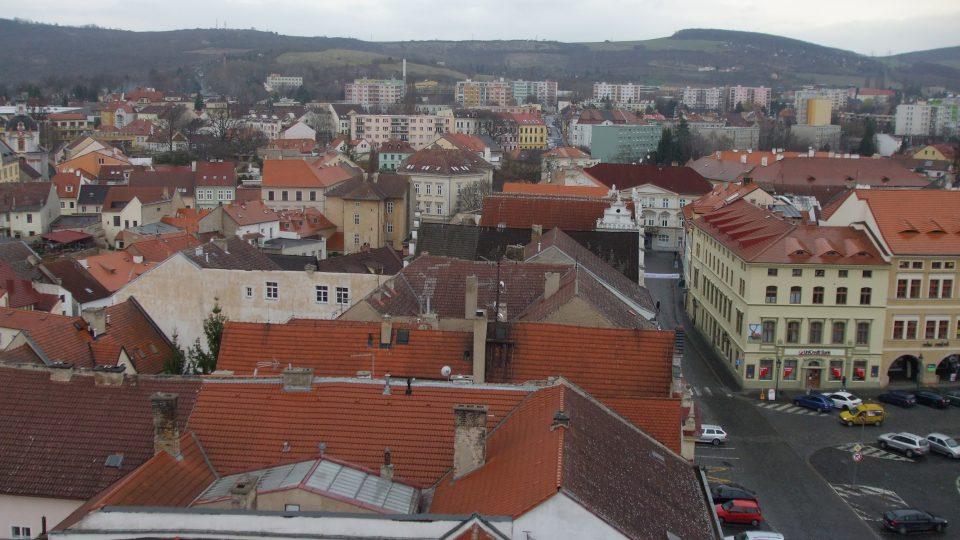 Věž Kalich - střechy historického jádra