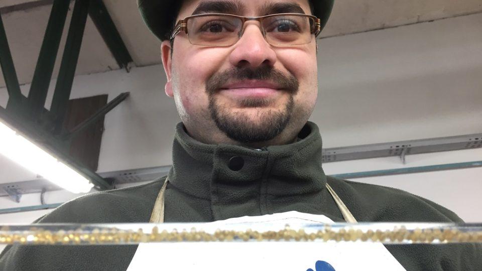 Vedoucí chovu ryb Rybářství Třeboň Zdeněk Eisert
