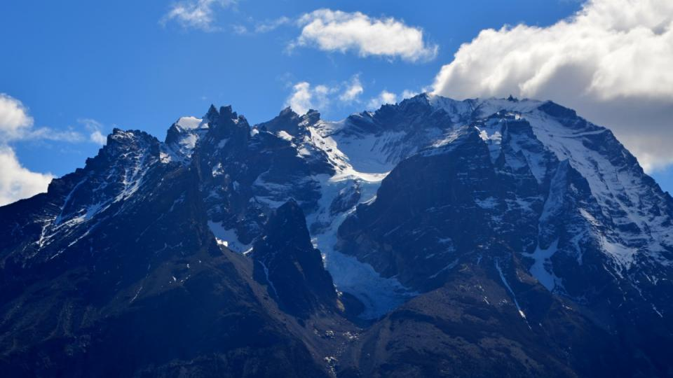 Takzvaný Modrý masiv v Torres del Paine