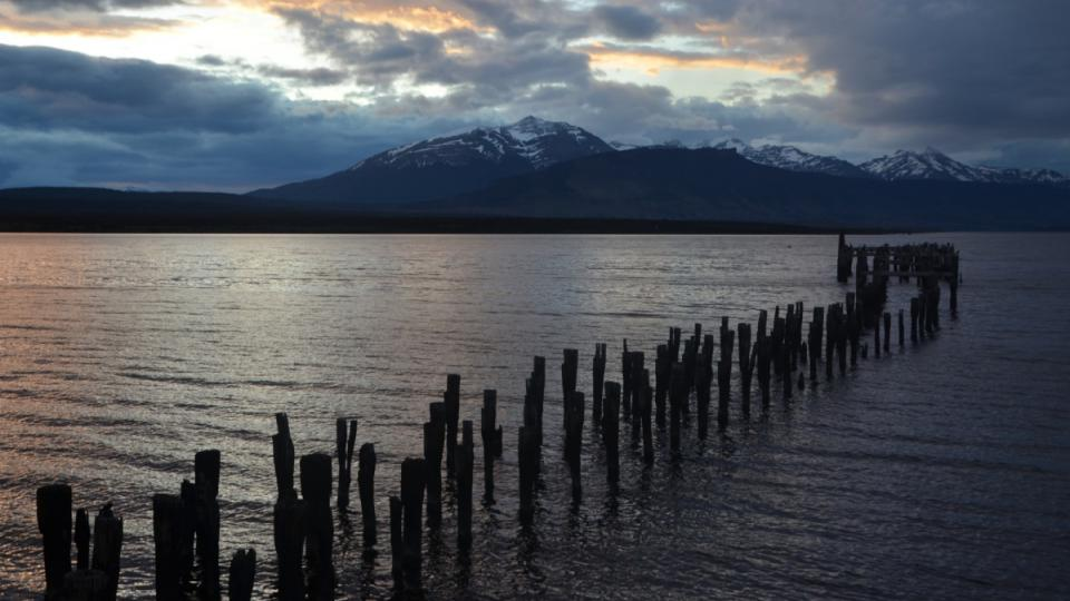 Záliv Tichého oceánu u chilského města Puerto Natales