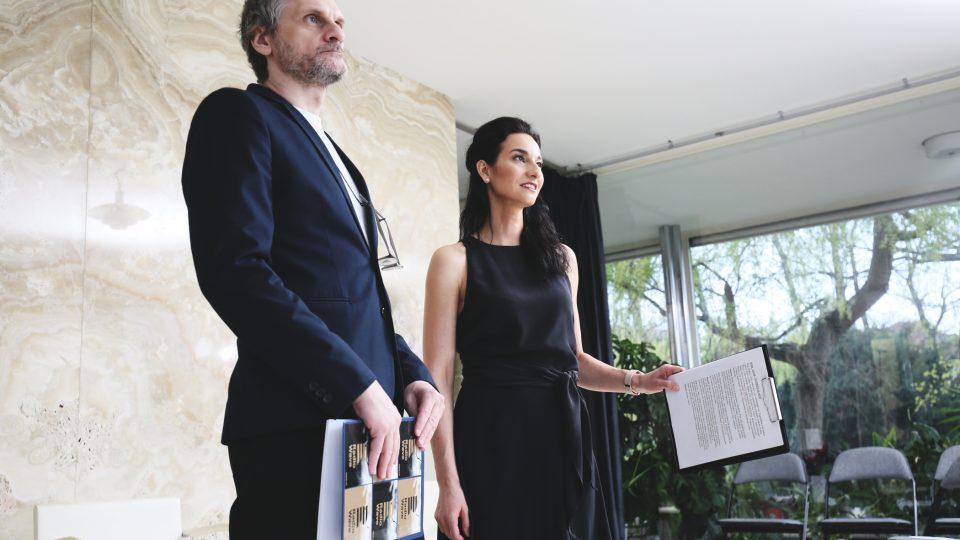 Daniel Baláž a Iva Jonášová na Audioportu ve vile Tugendhat