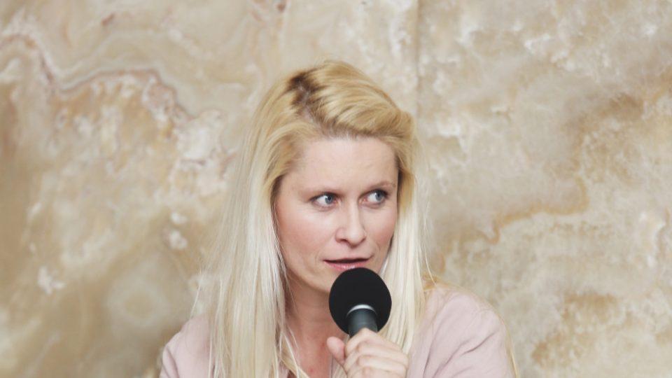 Mirka Ábelová na Audioportu ve vile Tugendhat