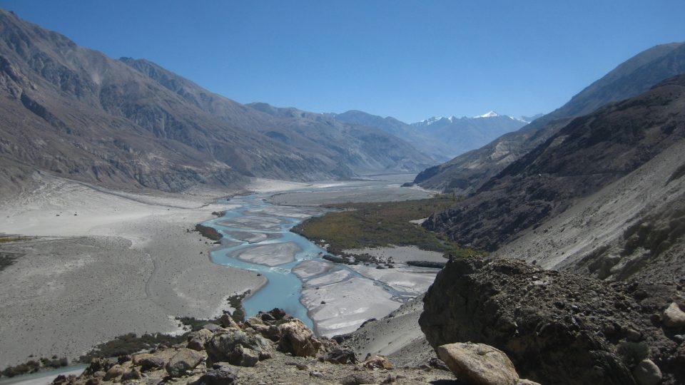 Pohled na řeku Shyok