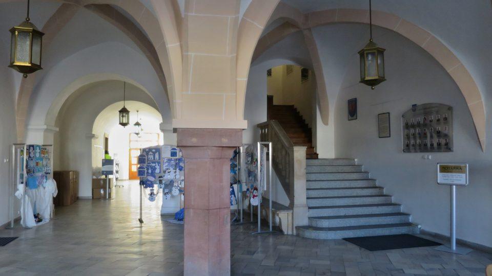 Mázhaus, vstupní hala radnice v Moravské Třebové