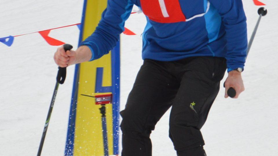 Jaroslav Wojnar na lyžích