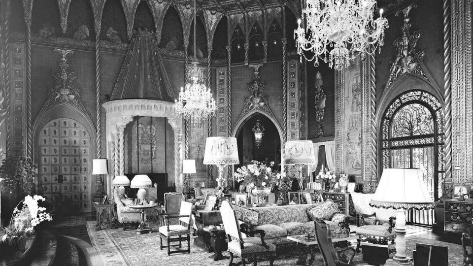 Obytná hala rezidence Mar-a-Lago na fotografii z roku 1967