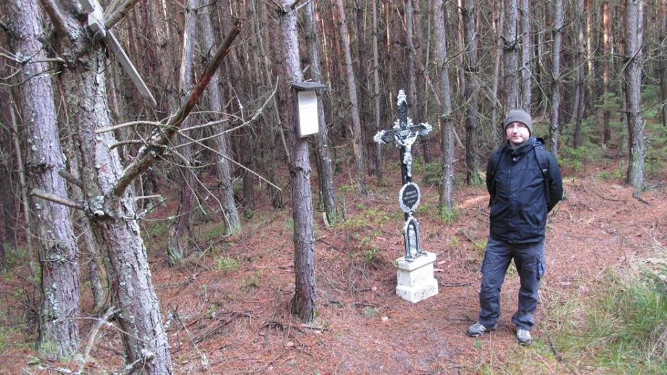 Cedulka na stromě a křížek v lese u Velechvína připomínají dvě havárie vojenských německých letadel z let 1944 a 1945. Ve stejné lokalitě se během pouhých pár let zřítilo několik dalších letadel