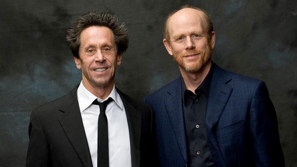 Výkonní producenti seriálu Genius Brian Grazer a režisér Ron Howard