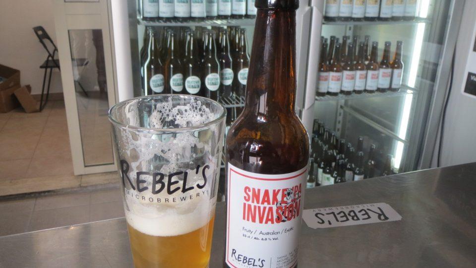 Pivo IPA nazvané výmluvně Hadí invaze