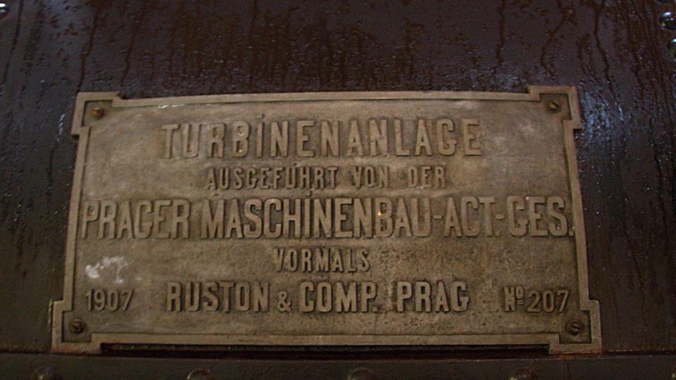 Štítek dokládá původ z roku 1907