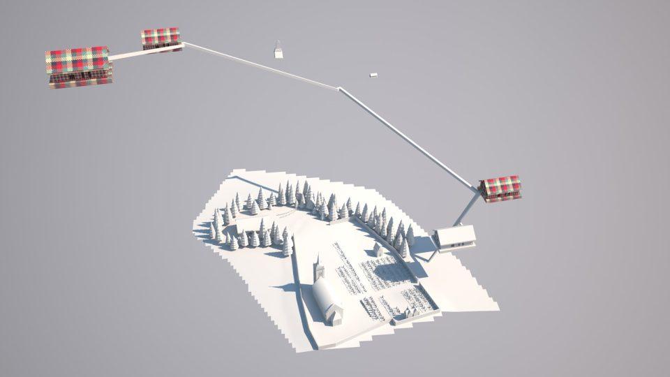 Model virtuální reality Galerie Na shledanou, 3D animace Vojtěch Rada