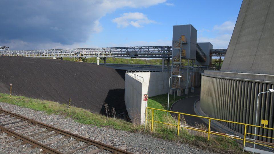 Areál nové elektrárny