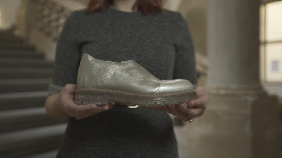Design Lindy Zabilkové pro Baťu, který vyhrál v kategorii dámská obuv