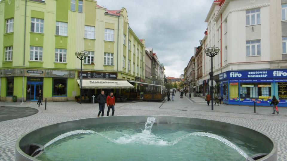 Kašna na Masarykově náměstí v Hradci Králové
