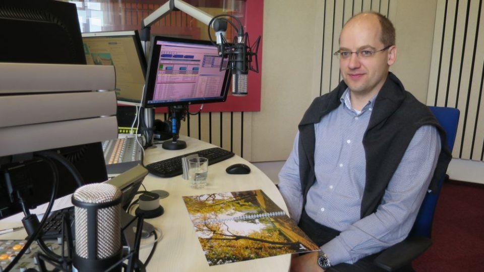 Petr Hamáček, místostarosta Jičína, ve studiu Českého rozhlasu Hradec Králové