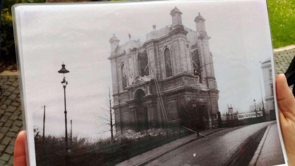 Stará synagoga po Křišťálové noci