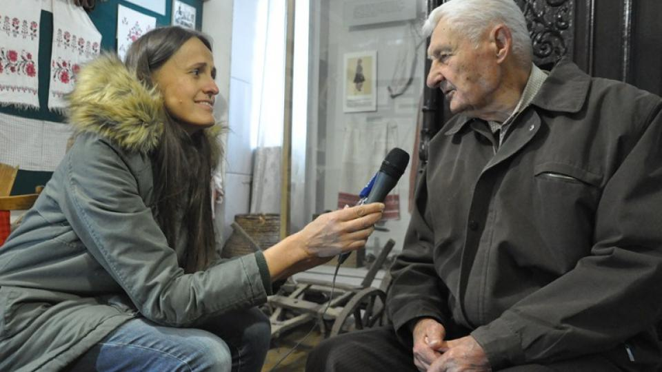 Šárka Kuchtová během rozhovoru s Anatolijem Drozdovičem