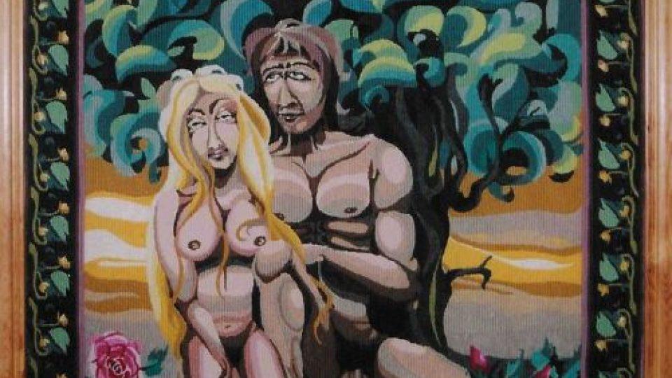 Gobelín Jaroslava Jošta - Adam a Eva