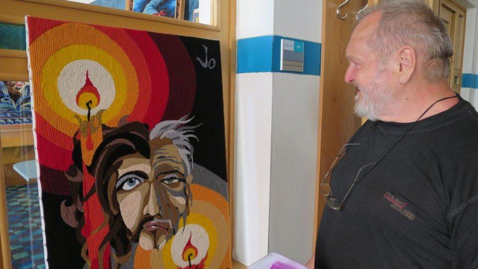 Jaroslav Jošt z Náchoda se věnuje gobelínům