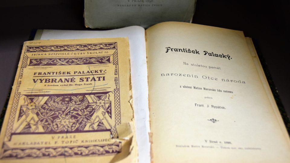 Díla Palackého a o Palackém v knihovně v Hodslavicích