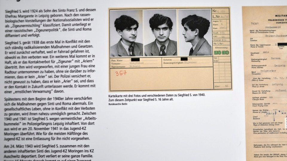 Profil jednoho z vězňů moringenského tábora
