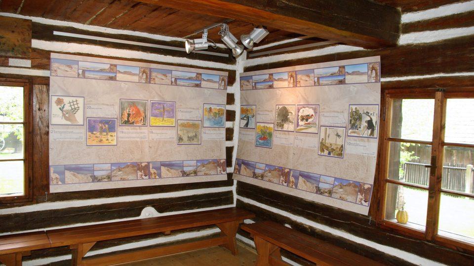 V Galerii K. Samšiňáka na Šolcárně se každý rok konají tři výstavy. Snímek je z expozice komiksových prací