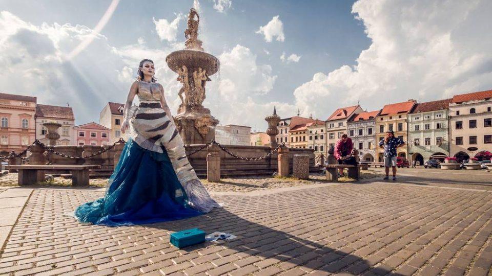 Buskers fest, festival pouličního umění v Českých Budějovicích