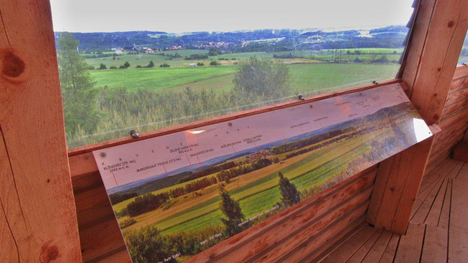 K orientaci vám pomohou panoramatické panely