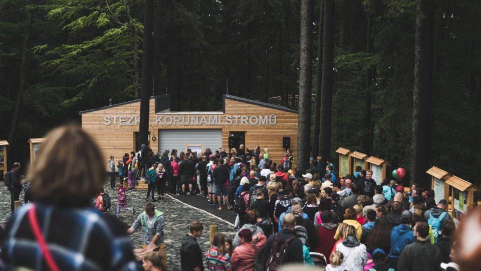 Stezka korunami stromů se nachází v srdci majestátních lesů Krkonošského národního parku