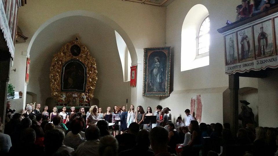 Koncert Severáčku v kostelíku v Letařovicích