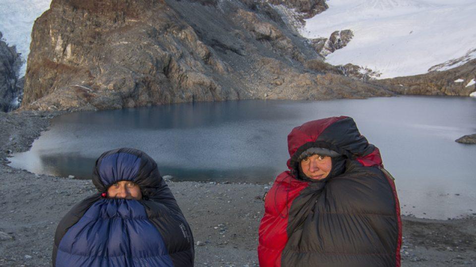 Čekání na východ slunce v Patagonii