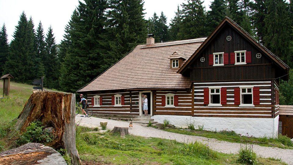 Liščí bouda - jediné dochované stavení osady Kristiánov