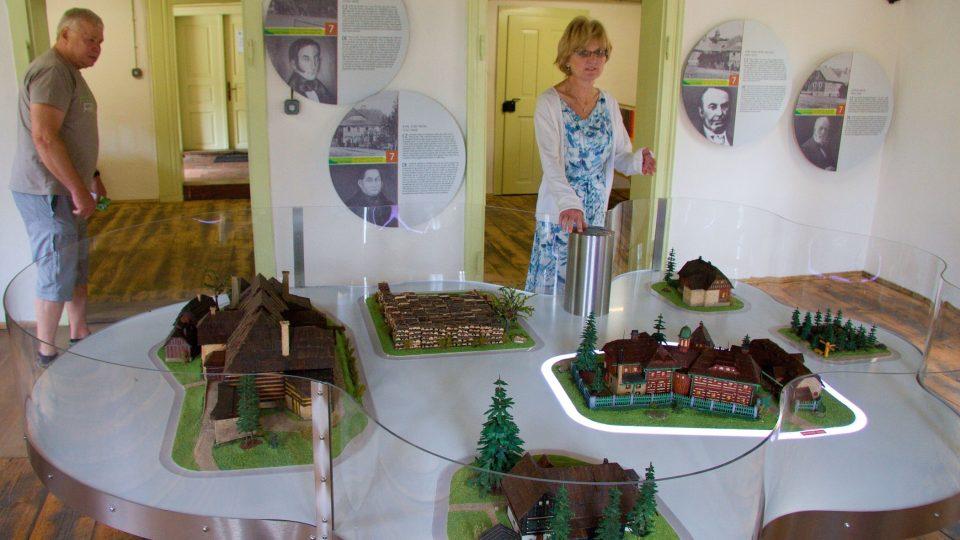 Největším exponátem je model osady v dobách její slávy