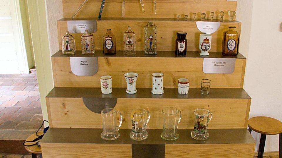 Ukázky výroby sklářské huti Kristiánov