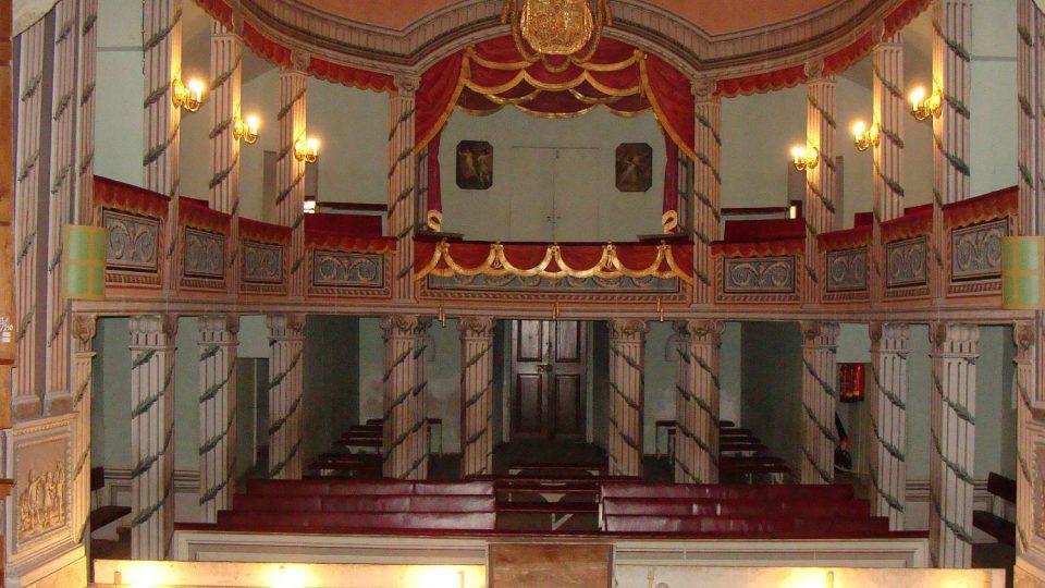 Pohled do hlediště divadla litomyšlského zámku