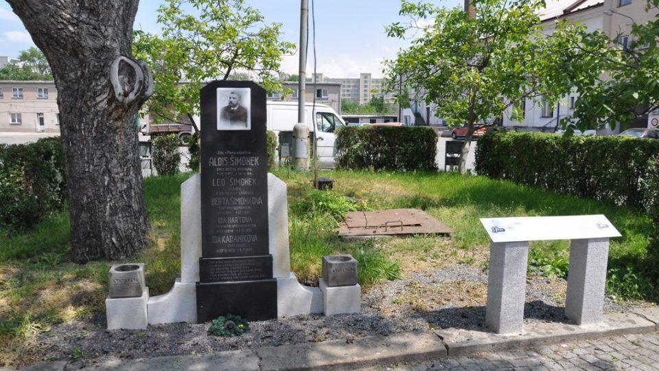 Na pivovarském dvoře stojí pomník sládka Aloise Šimonka