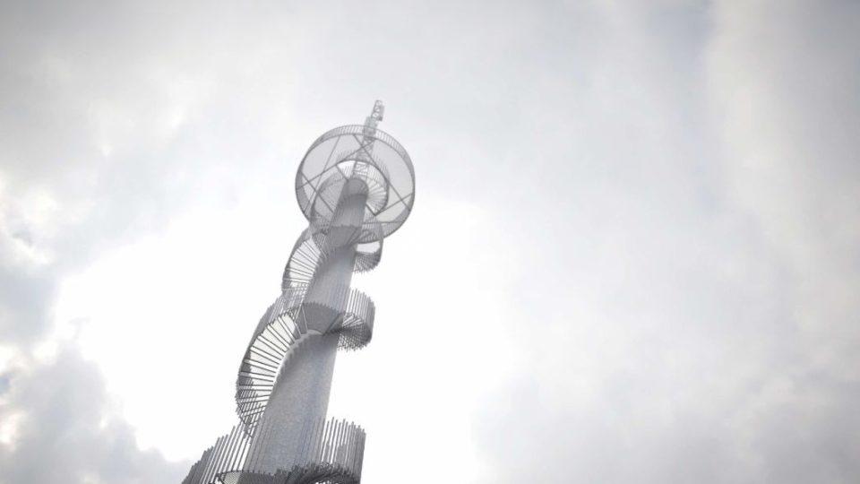 Z bývalé větrné elektrárny v Novém Hrádku na Náchodsku vznikne rozhledna - vizualizace