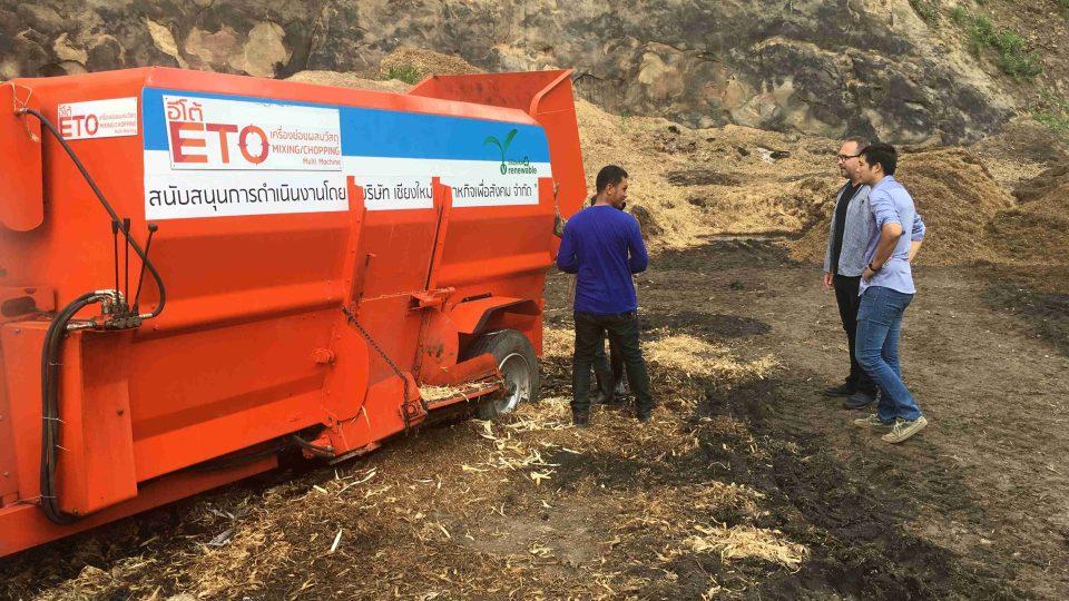 Zařízení, které přemění během 24 hodin bioodpad na hodnotný kompost, připomíná zvenku obyčejný kontejner
