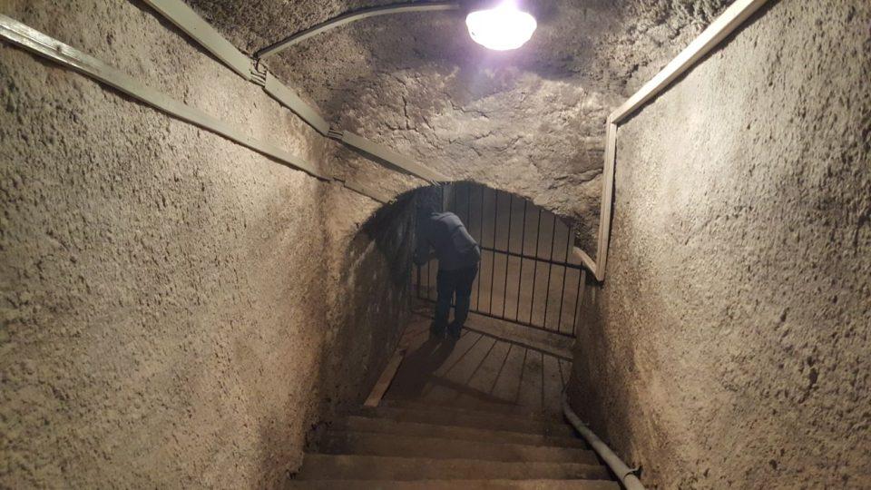 Původní vstup do podzemí opravený v 80. letech betonem