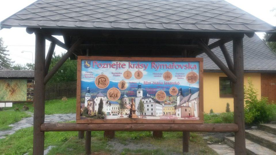 Areál Muzea turistických známek s infocentrem