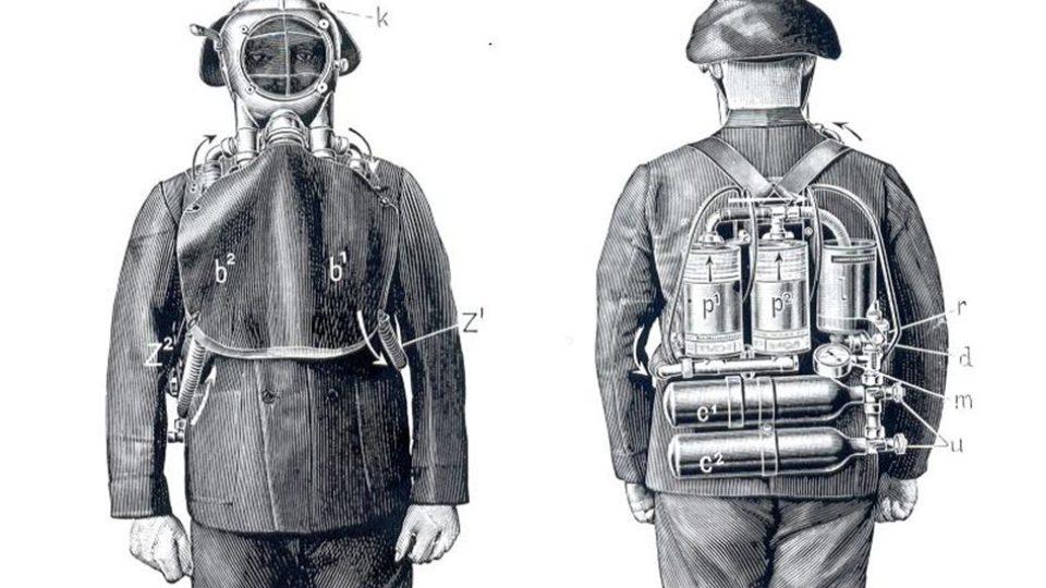 Báňská záchranná služba Odolov je připravena pomoci při problémech v dolech - historické pomůcky