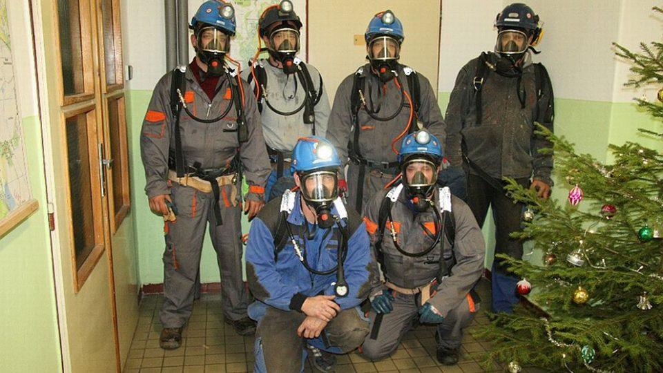 Báňská záchranná služba Odolov je připravena pomoci při problémech v dolech - vánoce u BZS