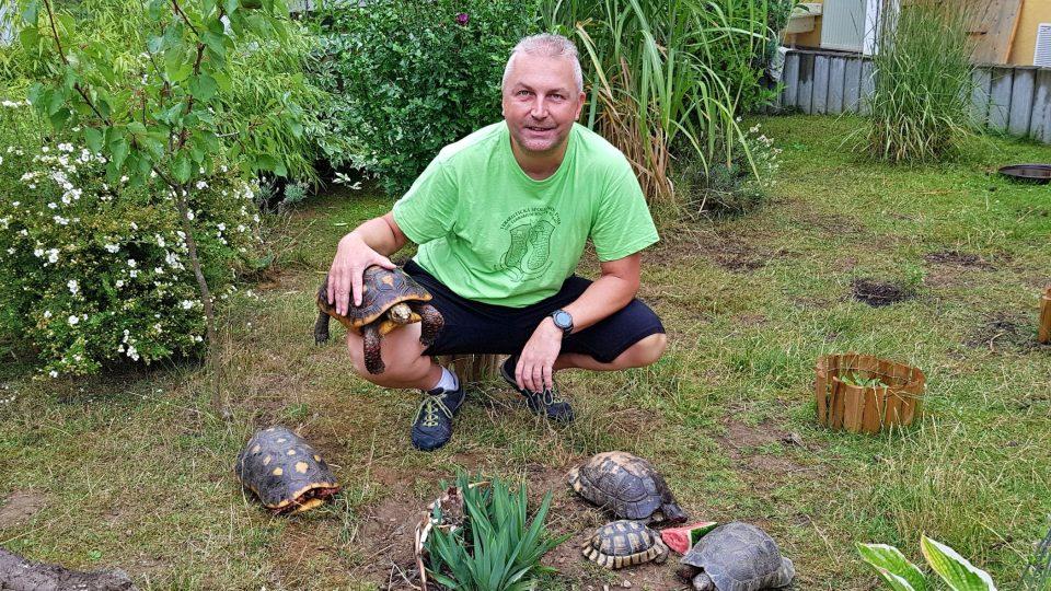 Oldřich Mudra má ve svém chovu i další velmi vzácné kusy – želvy skalní, rytířské, pavoučí nebo paprsčité