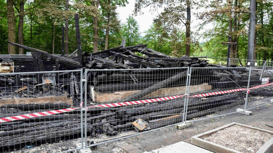 Spáleniště kostela v Gutech na Třinecku