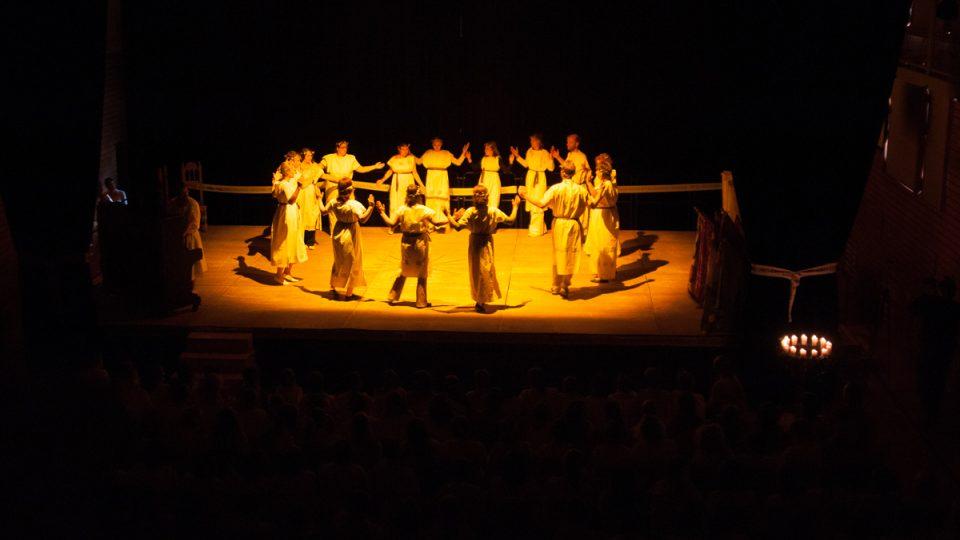Řecký tanec míru, eurytmie